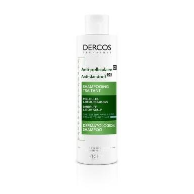 VICHY DERCOS Šampon proti mastným lupům 200 ml