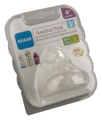 MAM Savička na lahev V3 rychlý průtok. 4+m. 1ks