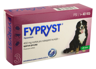 Fypryst spot on XL (pes nad 40kg) 3 pipety