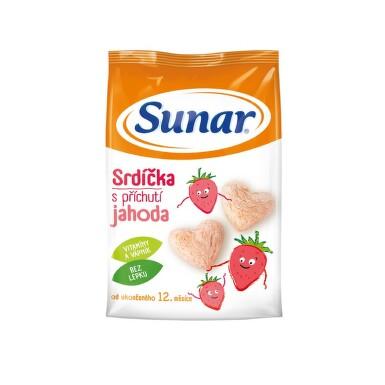 Sunarka dětský snack jahodová srdíčka 50g