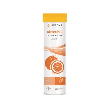 LIVSANE Vitamin C šumivé tablety pomeranč 20 ks