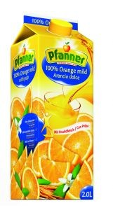 PFANNER Pomerančová šťáva s dužinou 100% 2l