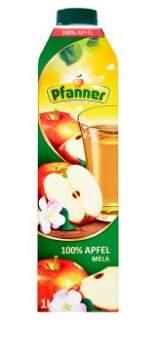 PFANNER Jablečná šťáva 100% 1l