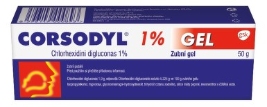 CORSODYL 1% GEL zubní gely 1X50GM