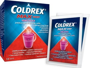 COLDREX MAXGRIP LESNÍ OVOCE 1000MG/10MG/70MG perorální PLV SOL 10 II