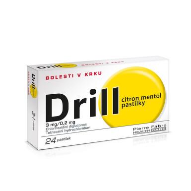 DRILL CITRON MENTOL PASTILKY orální podání pastilka 24