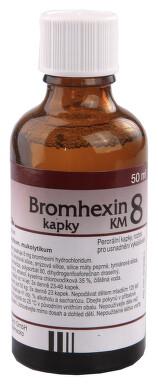 BROMHEXIN 8 KM KAPKY perorální kapky, roztok 1X50ML