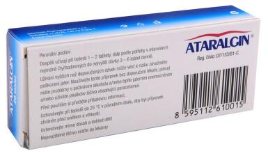 ATARALGIN perorální neobalené tablety 20