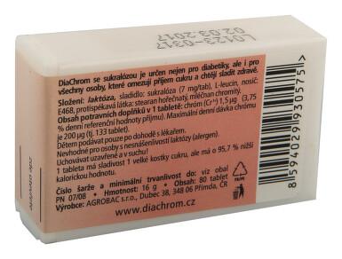 DiaChrom se sukralózou tbl.80 nízkokalor.sladidlo