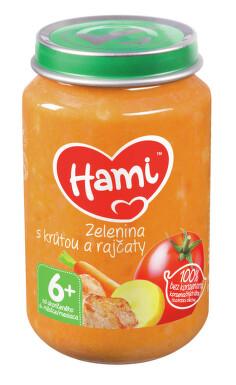 Hami příkrm zel.s krůtou a rajčaty 200g 6M
