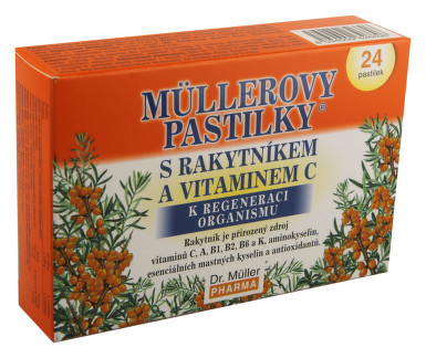 Müllerovy pastilky s rakytníkem a vitaminem C 24ks