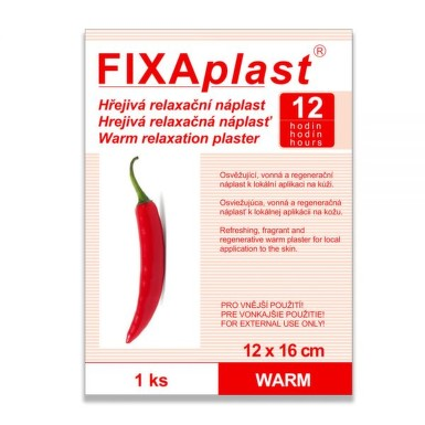 Hřejivá náplast Fixaplast WARM 12x16cm Capsicum