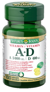 Nature's Bounty Vitamin A+D tob.100x5000/400m.j.