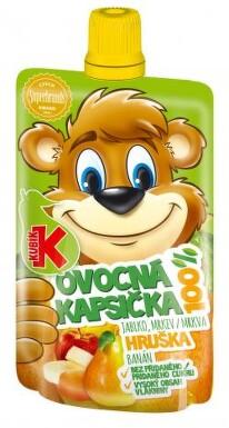 KUBÍK 100% ovocná kapsička HRUŠKA 100g