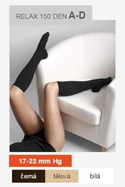 Maxis RELAX lýtková punčocha 150 DEN vel.S černá