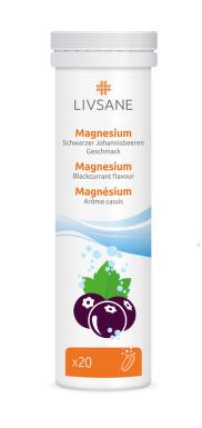 LIVSANE Magnézium šumivé tablety černý rybíz 20 ks