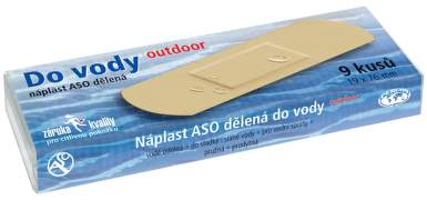 Náplast ASO do vody OUTDOOR 19x76mm PLS 9ks