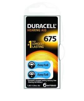 Baterie do naslouch.Duracell DA675 Easy Tab 6ks