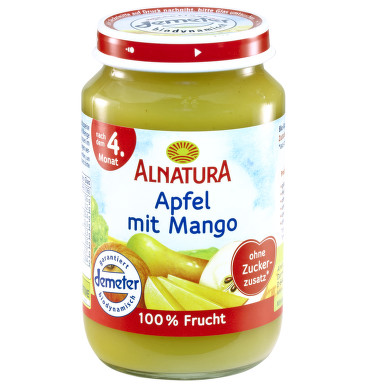Alnatura Jablko s mangem 100% ovoce 190g 4M