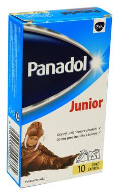 PANADOL JUNIOR ČÍPKY rektální čípek 10X250MG