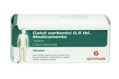 CALCII CARBONICI 0,5 TBL. MEDICAMENTA 0,5G neobalené tablety 100