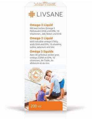 LIVSANE Tekutý Omega-3 s vitamíny a minerály 200ml