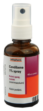 CANDIBENE 1% SPRAY kožní podání sprej, roztok 1X40ML 10MG/ML