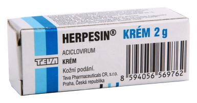 HERPESIN KRÉM kožní podání krém 1X2GM 5%