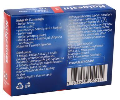 NALGESIN S perorální potahované tablety 20X275MG I