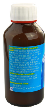 GAVISCON LIQUID PEPPERMINT perorální suspenze 1X300ML