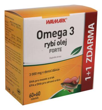 Walmark Omega 3 rybí olej Forte tob.60+60