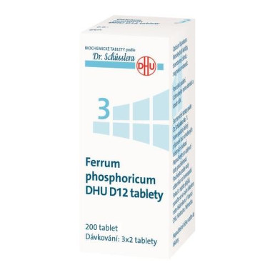 FERRUM PHOSPHORICUM DHU D5-D30 neobalené tablety 200