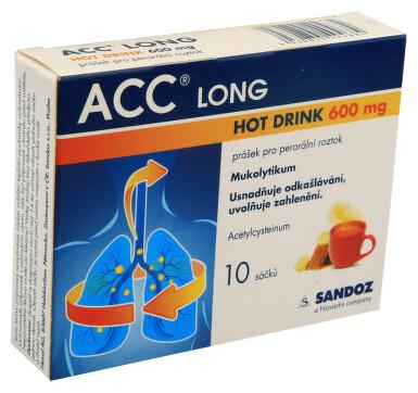 ACC LONG HOT DRINK 600 MG perorální prášek pro přípravu roztoku 10X600MG