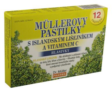 Müllerovy pastilky s islandským lišejníkem 12ks
