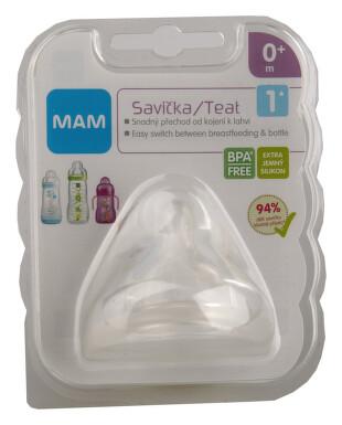 MAM Savička na lahev V1 pomalý průtok 0+m. 1ks