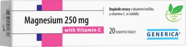Magnesium 250 mg s vitamínem C 20 šumivých tablet