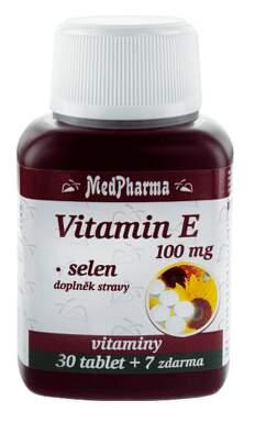 MedPharma Vitamín E 100mg+selen tbl.37