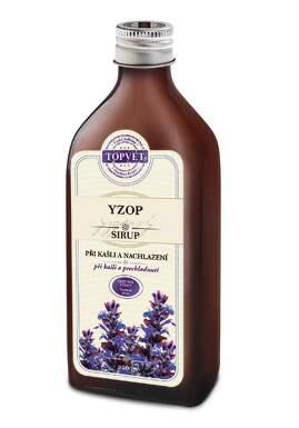 TOPVET Sirup yzopový 320g sklo