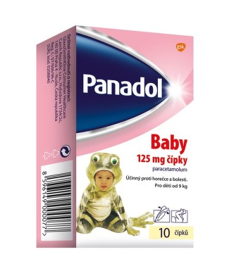PANADOL BABY 125MG čípek 10