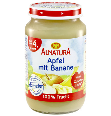 Alnatura Jablko s banánem 100% ovoce 190g 4M