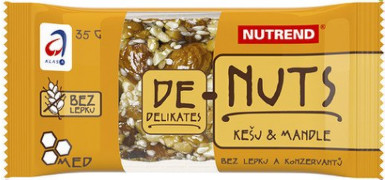 NUTREND DeNuts Ořechová tyčinka kešu+mandle 35g