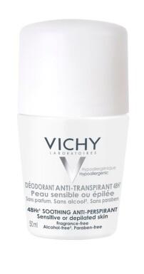 VICHY Deodorant na citlivou nebo depilovanou pokožku 50 ml