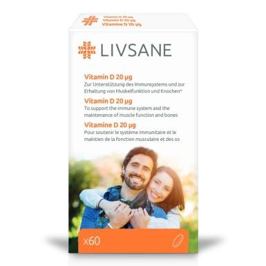 LIVSANE Vitamín D 20mcg tbl.60