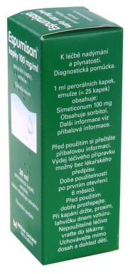 ESPUMISAN KAPKY 100 MG/ML perorální kapky, emulze 1X30ML
