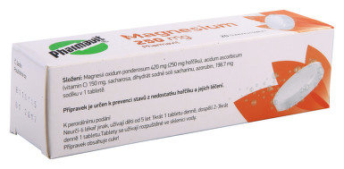 MAGNESIUM 250 MG PHARMAVIT perorální šumivá tableta 20