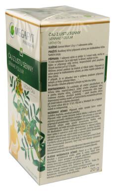 ČAJ Z LISTU SENNY perorální léčivý čaj 20X1.0GM