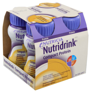 NUTRIDRINK COMPACT PROTEIN S PŘÍCHUTÍ BANÁNOVOU perorální roztok 4X125ML