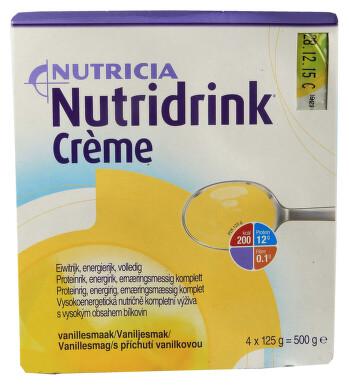 NUTRIDRINK CREME S PŘÍCHUTÍ VANILKOVOU perorální roztok 4X125GM