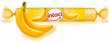 Intact rolička hroznový cukr s vit.C - banán 40g