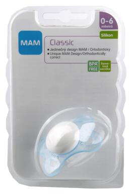 MAM Dudlík Classic 0-6měsíců silikon 1ks